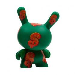 Figuren Dunny Serie 2 Dollar Sign von der Andy Warhol Fondation Kidrobot Designer Toys Genf