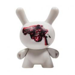 Figurine Dunny Série 2 Gun par la Foundation Andy Warhol Kidrobot Designer Toys Geneve