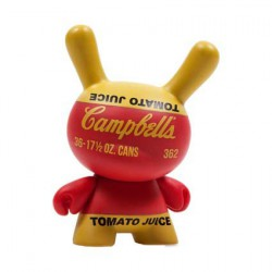Figur Dunny Series 2 Campbells Soup Can by the Andy Warhol Fondation Kidrobot Geneva Store Switzerland