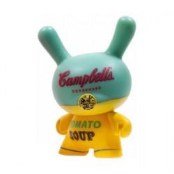 Figurine Dunny Série 2 Campbells Soup Box par la Fondation Andy Warhol Kidrobot Designer Toys Geneve