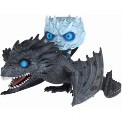 Figurine Pop Rides Game of Thrones Phosphorescent Night King with Icy Viserion Funko Figurines Pop! Geneve