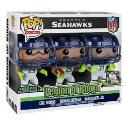 Figurine Pop NFL Seattle Seahawks Legion of Boom Edition Limitée Funko Figurines Pop! Geneve