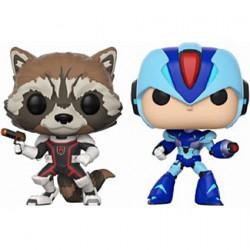 Figurine Pop Marvel and Capcom Rocket vs MegaMan X 2 Pack Funko Boutique Geneve Suisse