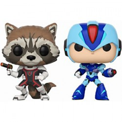 Figuren Pop Marvel and Capcom Rocket vs MegaMan X 2 Pack Funko Figuren Pop! Genf