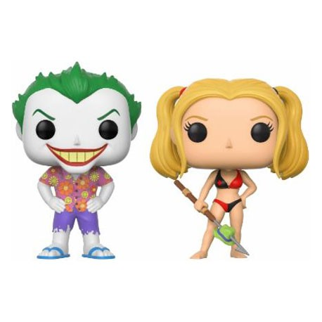 Figurine Pop DC Beach Joker et Harley Quinn Edition Limitée Funko Figurines Pop! Geneve