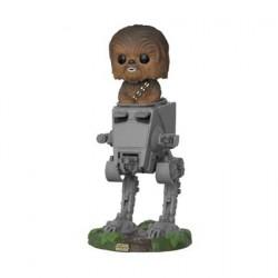 Figur Pop Star Wars The last Jedi Chewbacca in AT-ST Funko Geneva Store Switzerland