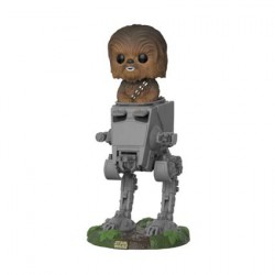 Figurine Pop Star Wars The last Jedi Chewbacca in AT-ST Funko Boutique Geneve Suisse