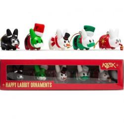 Figurine Kidrobot Labbit Ornament Pack par Frank Kozik Kidrobot Designer Toys Geneve