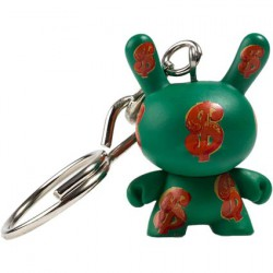 Figuren Dunny Dollar 1982 Keychain von der Andy Warhol Fondation Kidrobot Designer Toys Genf