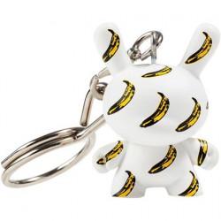 Figurine Dunny Banana Pattern 1963 Porte-clés par la Fondation Andy Warhol Kidrobot Boutique Geneve Suisse