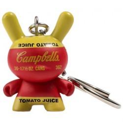 Figurine Dunny Campbell's Soup Box Porte-clés par la Fondation Andy Warhol Kidrobot Designer Toys Geneve
