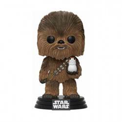 Figurine Pop Star Wars The Last Jedi Flocked Chewbacca with Porg Edition Limitée Funko Boutique Geneve Suisse