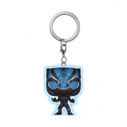 Figurine Pop Pocket Porte-clés Marvel Black Panther Phosphorescent Funko Figurines Pop! Geneve