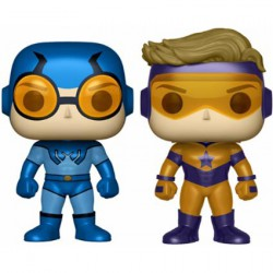 Figurine Pop DC Metallic Blue Beetle and Booster Gold 2 Pack Edition Limitée Funko Figurines Pop! Geneve