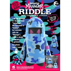 Figur Madbarbarians Manager Riddle Blue Camo by Madbarbarians Toy2R Geneva Store Switzerland