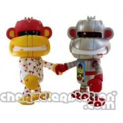 Figuren Fling Monkey Robo et Business von Devilrobots Adfunture Grosse Figuren Genf