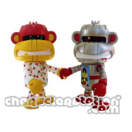 Figurine Fling Monkey Robo et Business par Devilrobots Adfunture Boutique Geneve Suisse
