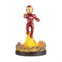 Figurine Marvel Iron Man Light-Up Q-Fig Quantum Mechanix Boutique Geneve Suisse