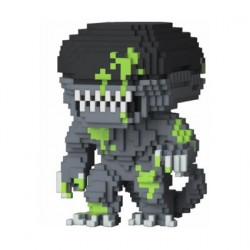 Figurine Pop Blood Splatter 8-Bit Alien Edition Limitée Funko Boutique Geneve Suisse