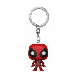 Figuren Pop Pocket Schlüsselanhänger Marvel Deadpool with Swords Funko Genf Shop Schweiz