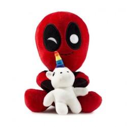 Figurine Peluche Marvel Deadpool Conduit avec une Licorne Kidrobot Boutique Geneve Suisse