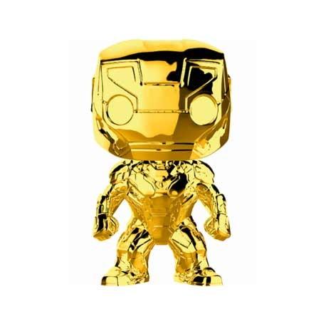 Figurine Pop Marvel Studios 10 Anniversary Iron Man Chrome Edition Limitée Funko Boutique Geneve Suisse