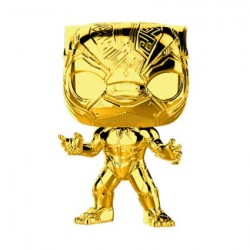 Figurine Pop Marvel Studios 10 Anniversary Black Panther Chrome Edition Limitée Funko Boutique Geneve Suisse