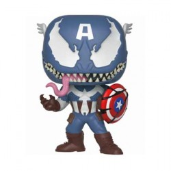 Figurine Pop Marvel Venom Venomized Captain America (Rare) Funko Boutique Geneve Suisse