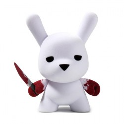 Figur Wannabe Flocked Dunny 12.5 cm by Luke Chueh Kidrobot Designer Toys Geneva