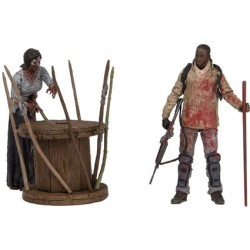 The Walking Dead Deluxe Box Morgan with Impaled Walker and Spi