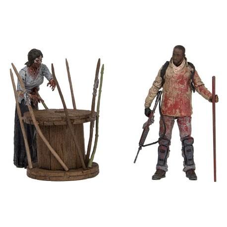 Figuren The Walking Dead Deluxe Box Morgan with Impaled Walker and Spi McFarlane Genf Shop Schweiz
