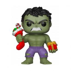 Figurine Pop Marvel Holiday Hulk with Stocking and Plush Funko Boutique Geneve Suisse
