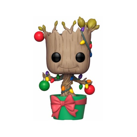 Figurine Pop Marvel Holiday Groot with Lights and Ornaments Funko Boutique Geneve Suisse