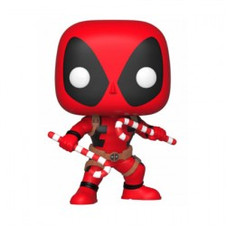 Figurine Pop Marvel Holiday Deadpool with Candy Canes Funko Boutique Geneve Suisse
