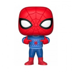 Figurine Pop Marvel Holiday Spider-Man with Ugly Sweater Funko Boutique Geneve Suisse