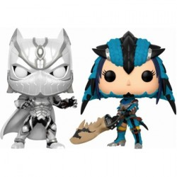Figuren Pop Marvel Silver Black Panther vs Capcom Monster Hunter 2-Pack Limitierte Auflage Funko Figuren Pop! Genf