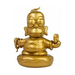 Figur Simpsons Homer Buddha Gold Limited Edition by Matt Groening Kidrobot Geneva Store Switzerland