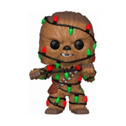 Figurine Pop Star Wars Holiday Chewbacca with Lights Funko Précommande Geneve