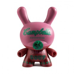 Figurine Dunny 20 cm Andy Warhol Masterpiece Campbells Soup Can par Andy Warhol x Kidrobot Kidrobot Boutique Geneve Suisse