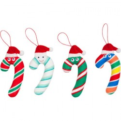 Figurine Kidrobot Peluche Yummy World Small Kris Cane Ornament 4-pack Kidrobot Boutique Geneve Suisse