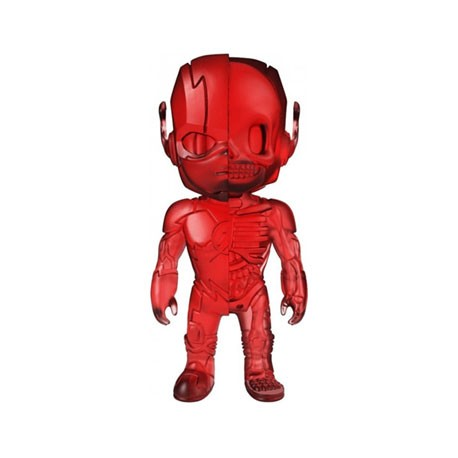 Figurine DC Comics The Flash Clear Red XXRAY par Jason Freeny Mighty Jaxx Boutique Geneve Suisse
