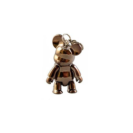 Figur Qee mini Bear Metallic Bronze Toy2R Geneva Store Switzerland