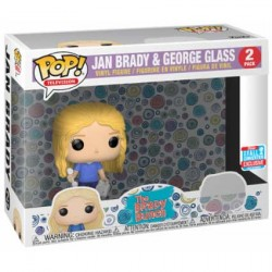 Figurine Pop NYCC 2018 Brady Bunch 2-Pack Jan & George Glass Edition Limitée Funko Boutique Geneve Suisse