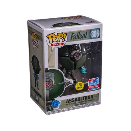 Figur Pop NYCC 2018 Fallout Assaultron Glow in the Dark Limited Edition Funko Geneva Store Switzerland