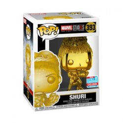 Figur Pop NYCC 2018 Marvel Studios The First Ten Years Shuri Gold Chrome Limited Edition Funko Geneva Store Switzerland
