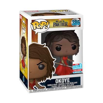 Figurine Pop Nycc 2018 Marvel Black Panther Okoye In Red
