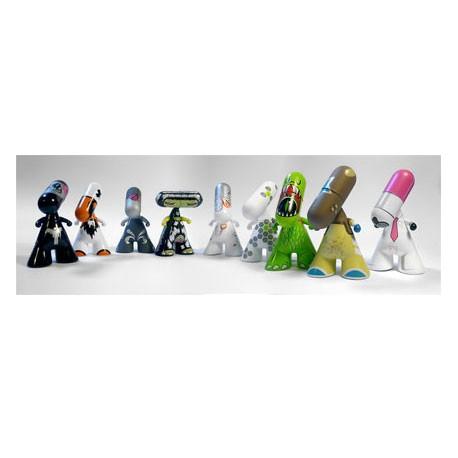 Figur Display of 20 pieces Zee Designer Series One (Swiss Design) Urfabulous Geneva Store Switzerland