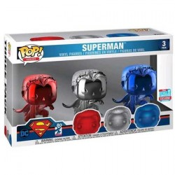 Figurine Pop NYCC 2018 Superman Chrome 3-Pack Edition Limitée Funko Boutique Geneve Suisse