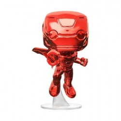 Figurine Pop Marvel Avengers Infinity War Iron Man Flying Red Chrome Edition Limitée Funko Boutique Geneve Suisse