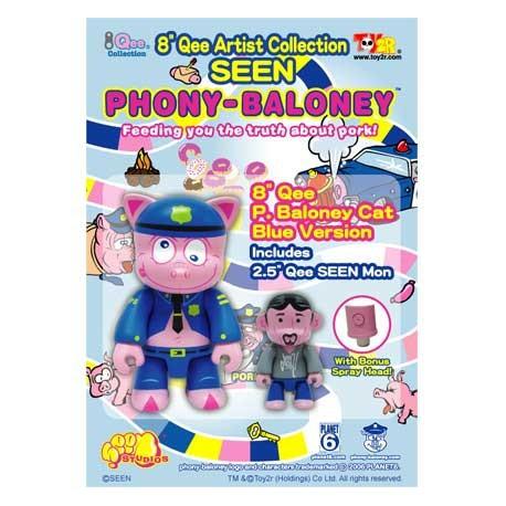 Figurine Qee Seen Blue P-Baloney par Seen Toy2R Boutique Geneve Suisse